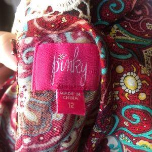 Pinky Dresses - Pinky Girls Flowy Paisley print Sleeveless Dress